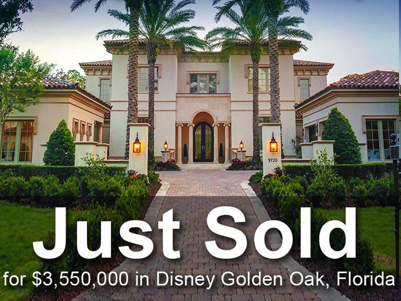 JUST SOLD: Luxury Estate at Disney Golden Oak