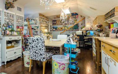 Create an inspiring art studio in your attic
