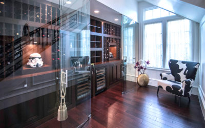 Transform the space next to your staircase into a wine cellar