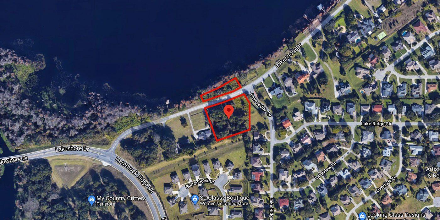 Residential acreage Lakeshore